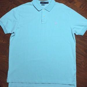 POLO Ralph Lauren XL Men Light Blue Purple Shirt